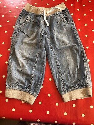 Girls Soft Denim Harem Style 3/4 Length Trousers  Age 10 Years From Next