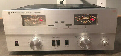 Philips High Fidelity Laboratories 578 Power Amplifier Works Great Cosmetic RARE