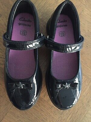 Brand New Clarks Mariel Wish Girls Patent Leather School Shoes Size 12H