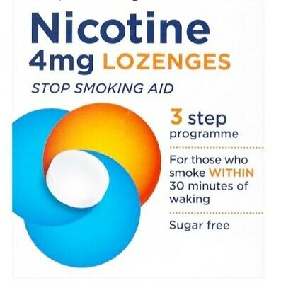 Nicotine Lozenges - 4 mg  - LOZENGES - 3 Step Programme - 36 Pack BBE 30.11.2019