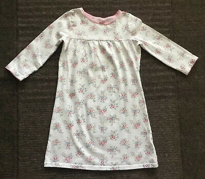 Cath Kidston Girls White Cotton Floral Nightdress Age 2-3