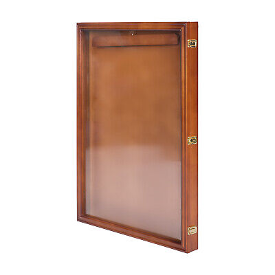 "Jersey Display 31.4""Case Shirt Shadow Box Wall Frame Cabinet with Lock"