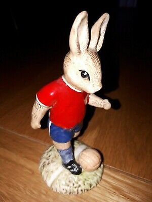 Royal Doulton Bunnykins Footballer  Orig Sample Design Ex Cond Ex Rare