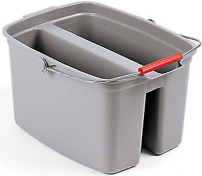 Rubbermaid Commercia FG262888GRAY Commercial-Grade Double Bucket, Gray, 19-Qt. -