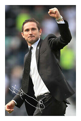 Frank Lampard Signed A4 Autograph Photo Print Football Manager