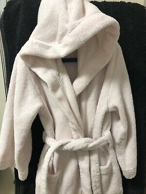 The Little White Company Soft Pink Dressing Gown Age 5-6years