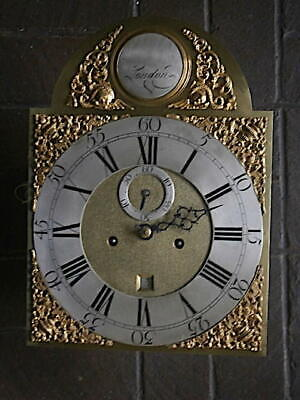 C1750 8 day LONGCASE GRANDFATHER CLOCK DIAL+movement 12x16+1/2 inch LONDON   '