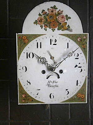 C1820 8 day LONGCASE GRANDFATHER CLOCK DIAL+movement 13x18 inch      '  JOHN P W