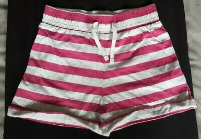 Girls Pink And White Striped Shorts From George At Asda Aged 11-12 Years
