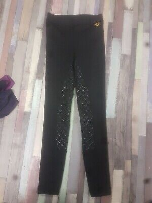 """SHIRES AUBRION ALBANY RIDING TIGHTS/LEGGINGS 24"""" uk 6 or teenager/maids"""
