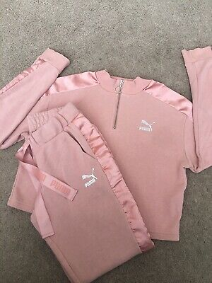 Ladies/Girls Puma Tracksuit Size 10/12 With Satin Detail