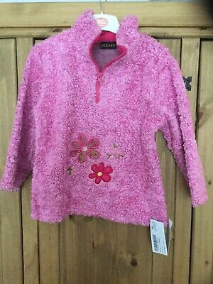 New With Tags Girls Jumper Age 4/6 Years , Colour Pink , Theme Flowers , Seesaw