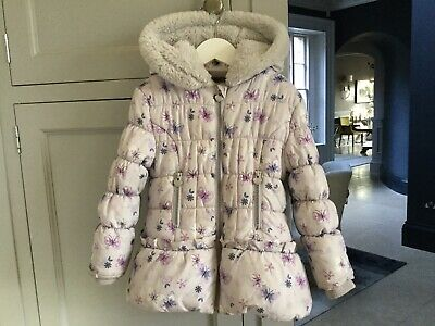 Little Girls Winter Coat Lilac Age 3-4 Years