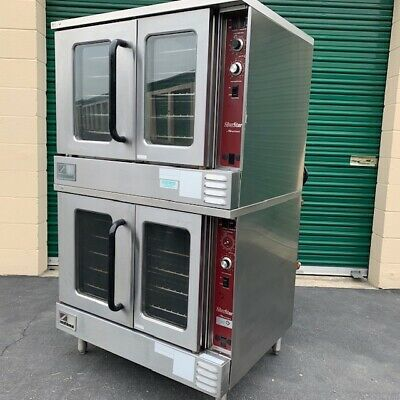 Used Southbend Stainless Gas Double Stack Full Size Convection Oven & 10 Racks