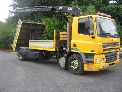 Leyland Daf Cf, 85 380 ,40 Ton Gtw, Hiab Crane Tipper Truck, Direct / Ex Council