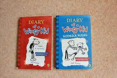 Diary Of A Wimpy Kid (Book 1 & 2) by Jeff Kinney (Paperback)