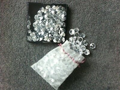 Wedding Crystals, Table Gems, Table Crystals. Clear Crystals Table Dressing.