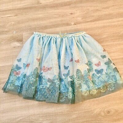 Girls H&M Party Glitter Tulle Blue Green Tutu Skirt Age 6-8 Years Christmas
