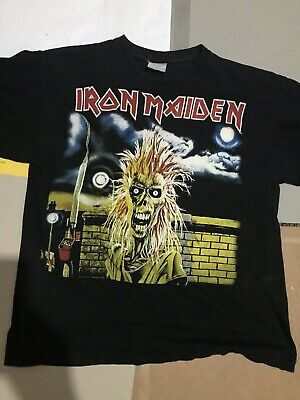 Iron Maiden M Vintage Running Free First Album Early Days Tour 1980 T Shirt
