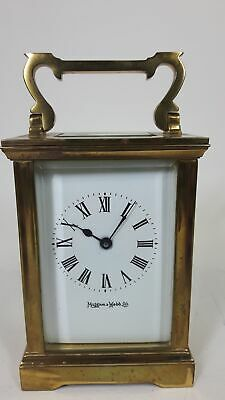 Vintage Mappin And Webb Brass Carriage Clock Exhibition Workings #919