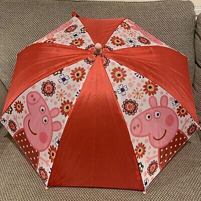 Nickelodeon Peppa Pig Girls Rain Umbrella Kids School Panel Brolly