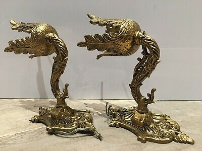 Pair of french vintage bronze wall light sconces