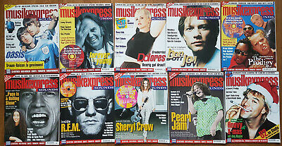 10x SOUNDS MUSIK EXPRESS 1996 ohne 1+2  - Neil Young Oasis REM Pearl Jam etc.