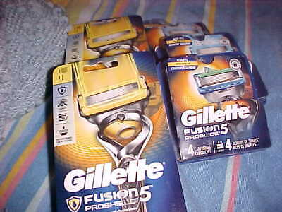 "Large Group Of Gillette ""Fushion 5 Razors And Cartridge Refills"
