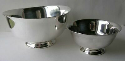 """Lot of 2 Reed and Barton Paul Revere Silverplate Bowls 5 /14"""" & 8"""""""
