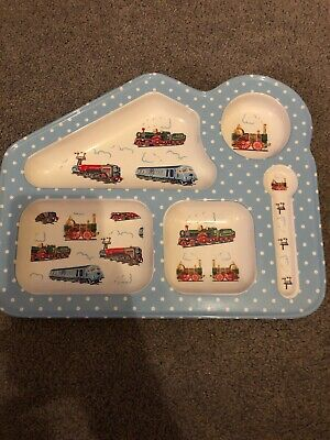 Cath kidston Food Tray Eating Plate Trains Themed