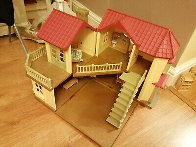 Sylvanian Families Manor House With Working Lights And Furniture-Christmas Gifts