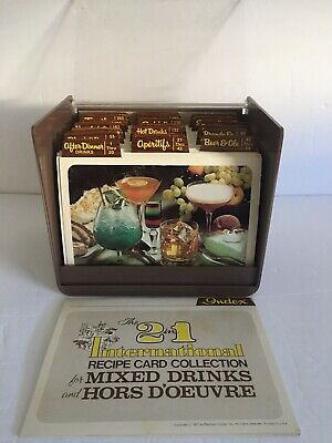 Vintage Cocktail Drinks & Appetizers Recipe Card Collection 1977 By Random House