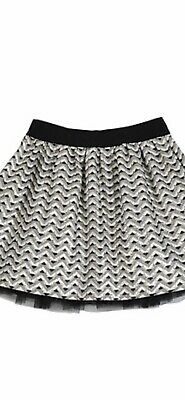 Miss Grant Silver and Gold Pattern Jacquard Skirt Age 7