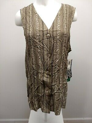 Briggs New York Vintage Vest Petite Large New with Tags