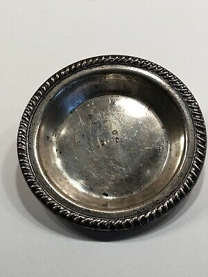 Vintage Hunt Silver Co Sterling Coaster / Tea Ball Dish #32 22 grams 1930s