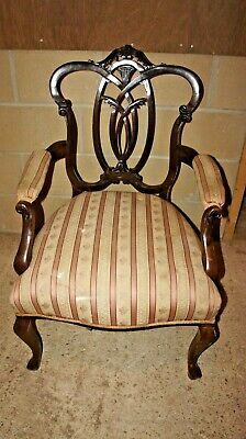 Lovely Antique Victorian Chair for re-upholstery Hall Bedroom Restoration