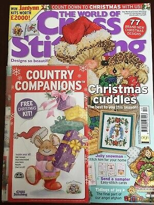 The World Of Cross Stitching Magazine Issue 117 Christmas + Kit
