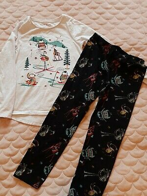 Girls Winter Outfit Top And Leggings, 9-10 Years