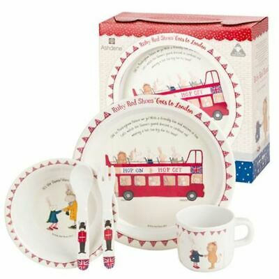 Ashdene Ruby Red Shoes London  5 Piece Kids Dinner Set