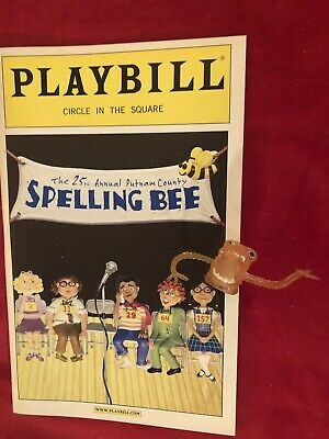 25th Annual Putnam County Spelling Bee Original Broadway Playbill & PROP!