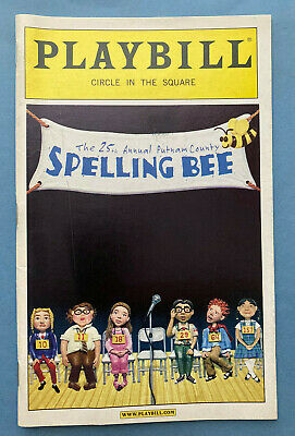 25TH ANNUAL PUTNAM  SPELLING BEE Playbill (July 2007) James Monroe Iglehart