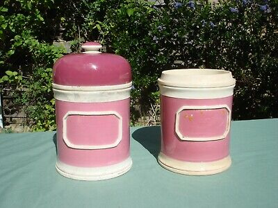 Victorian Large Apothecary / Chemist Pink Jar and