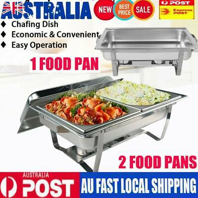 Bain Marie Bow Chafing Dish Stainless Steel Buffet Warmer Food Tray 4.5Lx2 + 9L