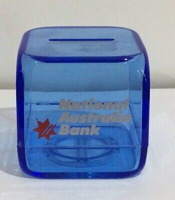 National Australia Bank Cube Money Box,Nab Cube Money Box,Nab Money Box Cube