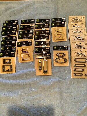 Lot 29 Making Memories LABEL HOLDERS Square Rectangle Oval & J Holtz Mini Platez