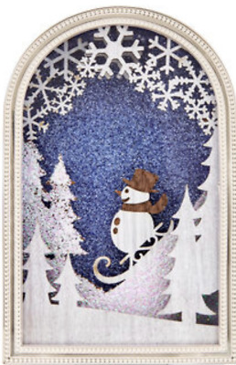 Bath Body Works Snowman Woodland Scene Nightlight Wallflower Fragrance Plug In