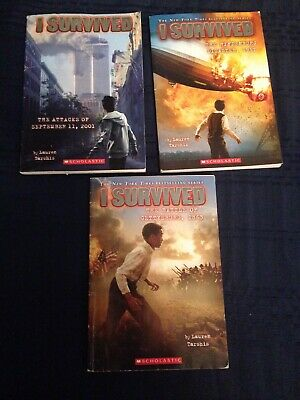 I Survived.By Lauren Tarshis.Lot Of 3.Paperback.Pre-owned.