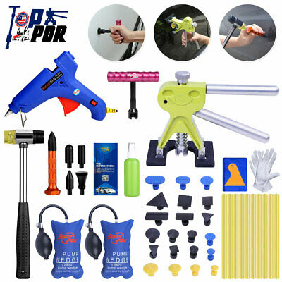 PDR Paintless Hail Puller Lifter Hammer T-bar Dent Removal Tools+Air Wedge Pump