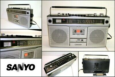 Vintage SANYO M9922K 4 Band Radio Cassette Recorder Player Boombox Japan