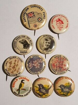 VINTAGE BADGES from WESTERN AUSTRALIA, SILVER CHAIN and others